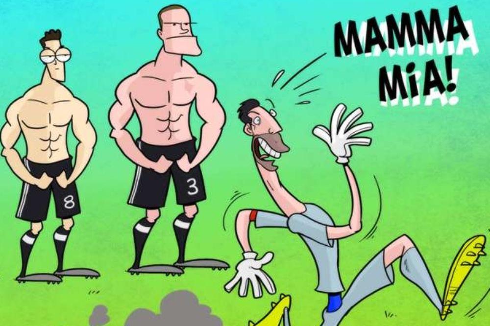 Τα ξεκαρδιστικά σκίτσα-τρολαρίσματα των Γερμανών σε Ιταλούς και Άγγλους! (photo)