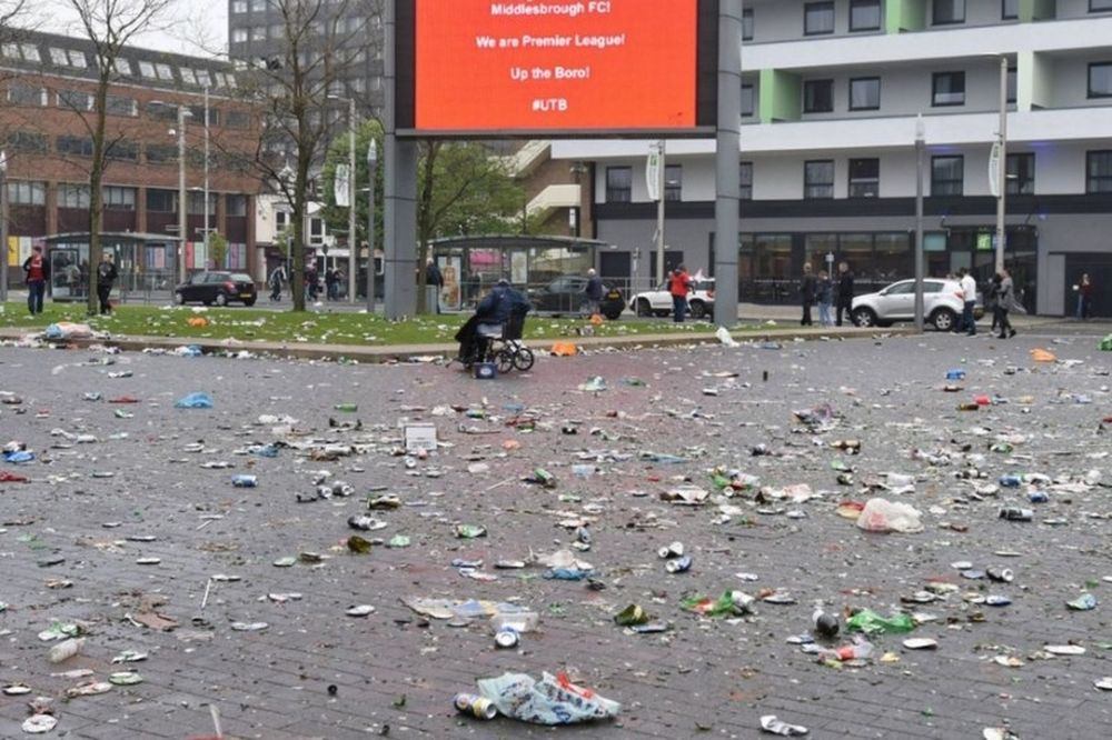 Καταστράφηκε το Μίντλεσμπρο από τους πανηγυρισμούς! (photos)