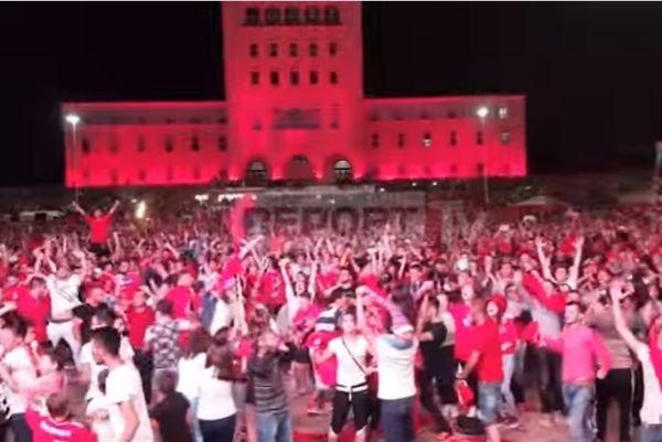 Euro 2016: «Κάηκε» η Αλβανία από τους πανηγυρισμούς! (videos)