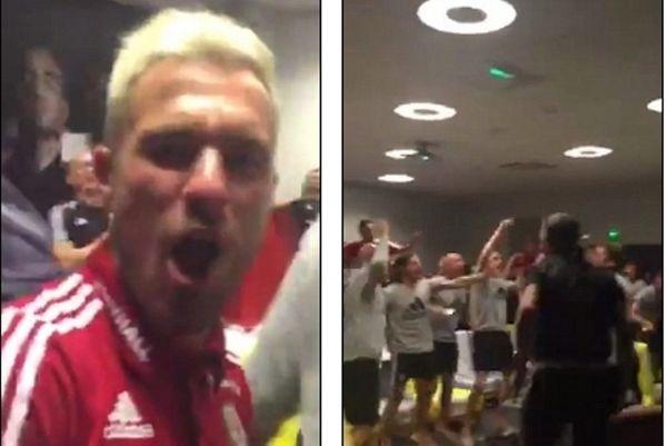 Euro 2016: Παίκτες της Ουαλίας πανηγύρισαν έξαλλα τον αποκλεισμό της Αγγλίας! (video)