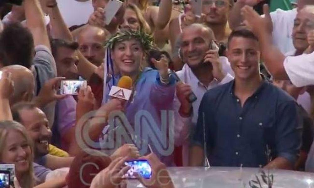 Ρίο 2016 - Δράμα: H θριαμβευτική υποδοχή της Άννας Κορακάκη (vid)