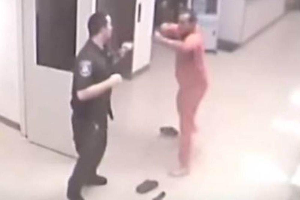 Απίστευτο: Κρατούμενος φυλακής σώζει φύλακα από επίθεση άλλου κρατουμένου (video)