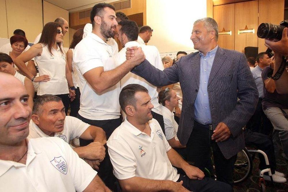 Στην τελετή παρουσίαση της Παραολυμπιακής Ομάδας Αθλητών ο Πρόεδρος της ΚΕΔΕ Γ. Πατούλης