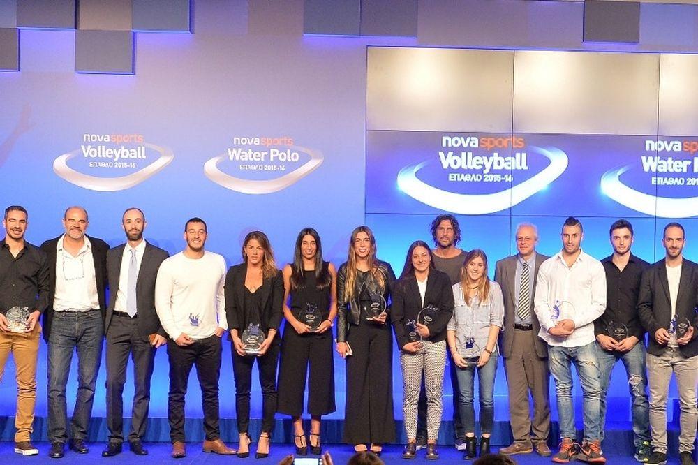 Έπαθλο Novasports: Βραβεύτηκαν οι κορυφαίοι σε Volleyball και Water Polo για 14η χρονιά!
