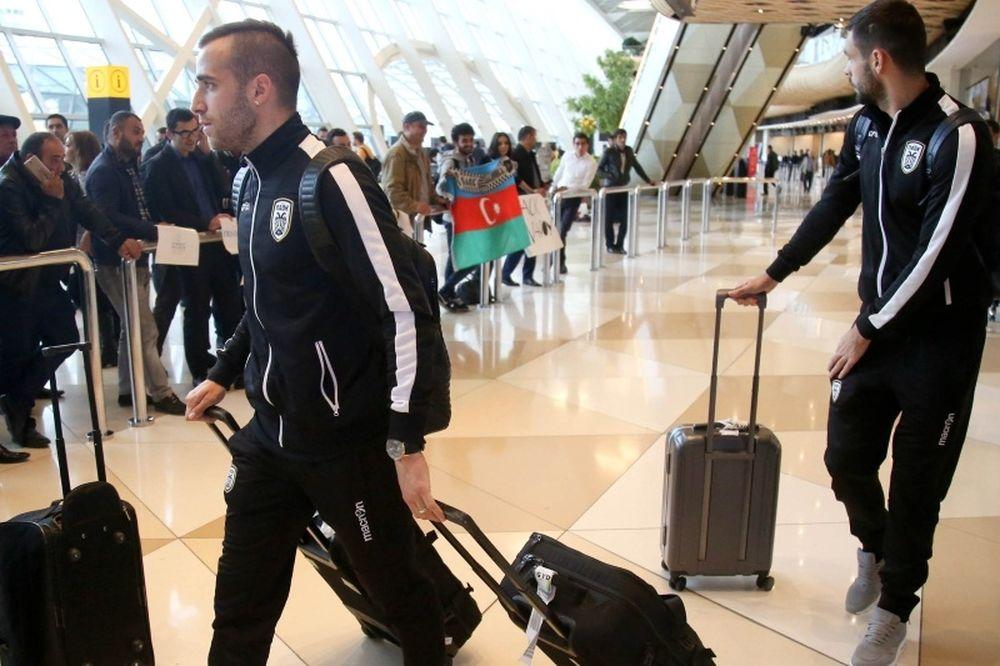 ΠΑΟΚ: Υποδοχή στο Μπακού