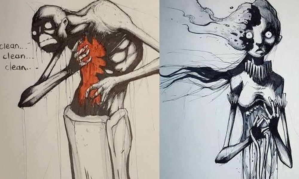 Οι ψυχικές διαταραχές μέσα από συγκλονιστικά σκίτσα (pics)