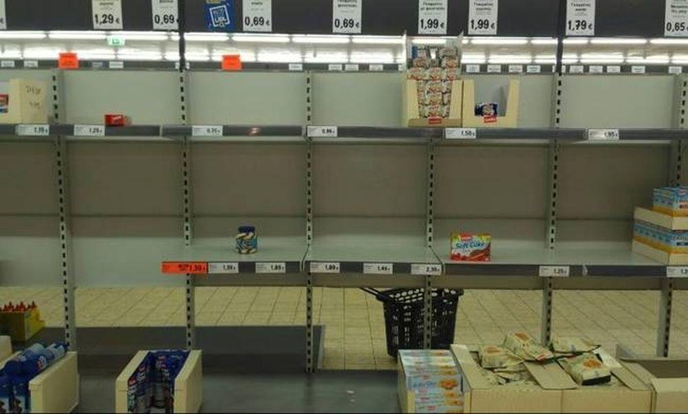 Απεργία ΠΝΟ: Προβλήματα στο Ηράκλειο - Άδειασαν τα ράφια στα πολυκαταστήματα (pics)