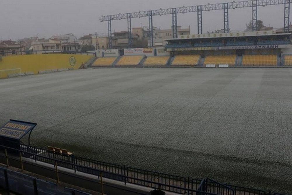 Χιόνια και στο γήπεδο του Παναιτωλικού