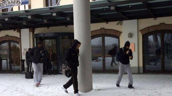 Πήγε για προπόνηση με χιόνια η ΑΕΚ (photos)