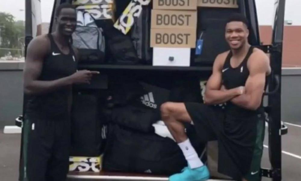 NBA: Έστειλαν φορτηγό με παπούτσια στον Αντετοκούνμπο για… εντυπωσιασμό! (video)