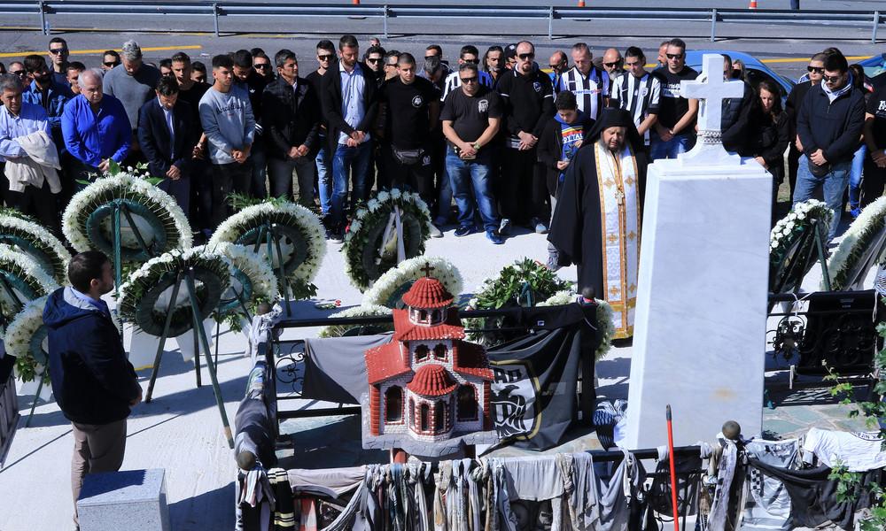 ΠΑΟΚ: Τίμησαν τα θύματα των Τεμπών (photos)