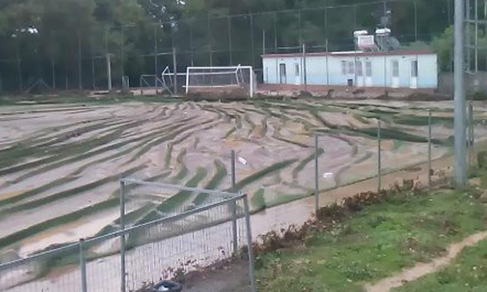 Αδιανόητο: Ο «Δαίδαλος» ξήλωσε ολόκληρο το γήπεδο στα Χανιά! (vid, pics)
