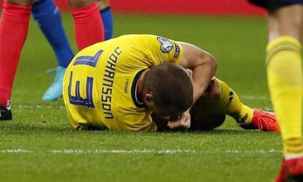 Ιταλία - Σουηδία: Συγκινητική αφιέρωση στον Γιόχανσον! (photo)