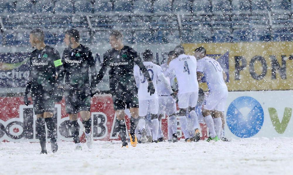 Λαμία-Παναθηναϊκός 4-1: Τον «βούλιαξαν» στο χιόνι!