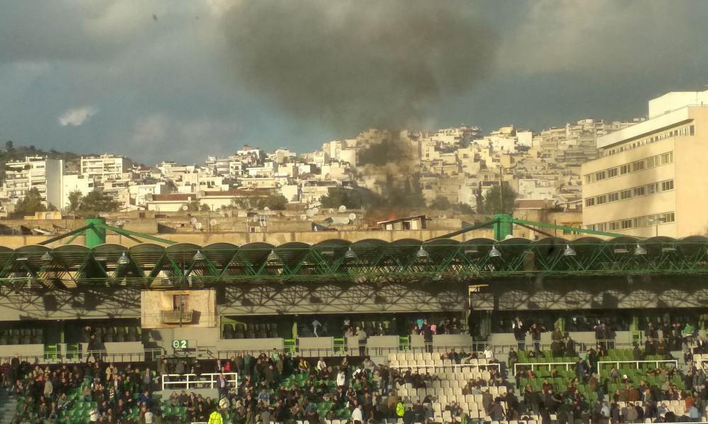 Παναθηναϊκός: Φωτιά έξω από το γήπεδο της Λεωφόρου! (photos)