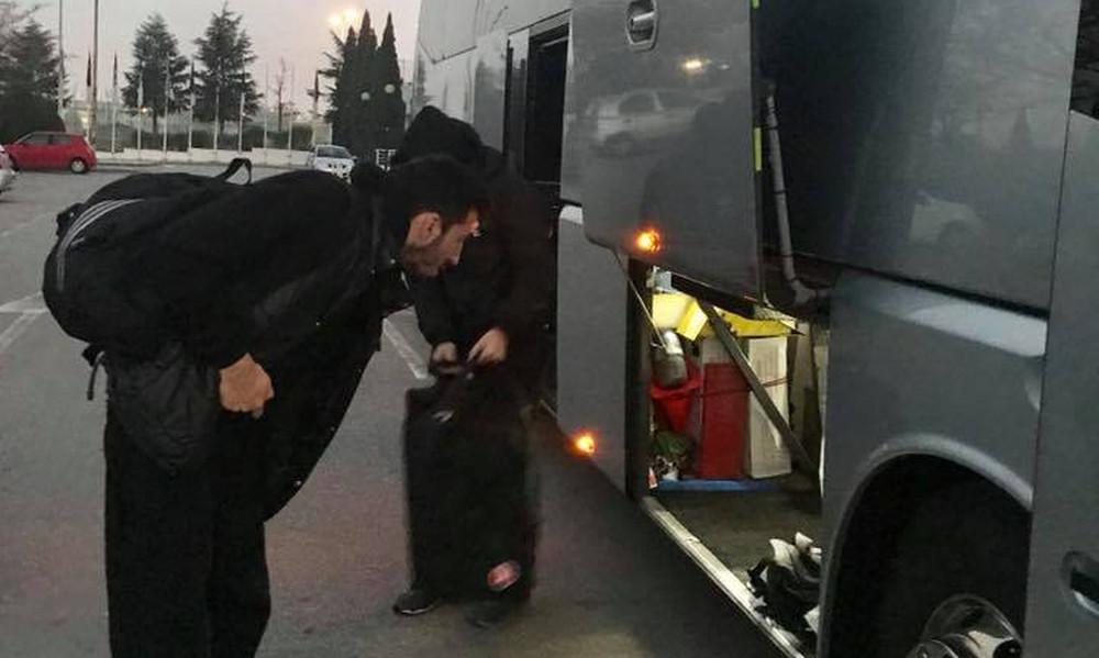 ΠΑΟΚ: Εγκλωβισμένη στο δρόμο για τρεις ώρες η αποστολή! (photos)