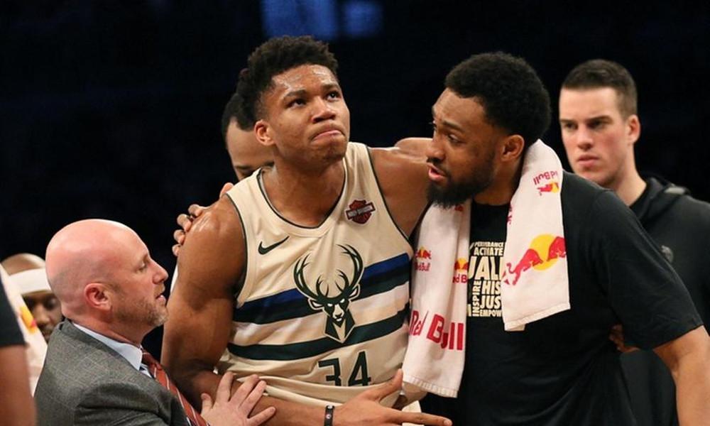 NBA: Ησύχασαν οι Μπακς με τον τραυματισμό Αντετοκούνμπο (video)