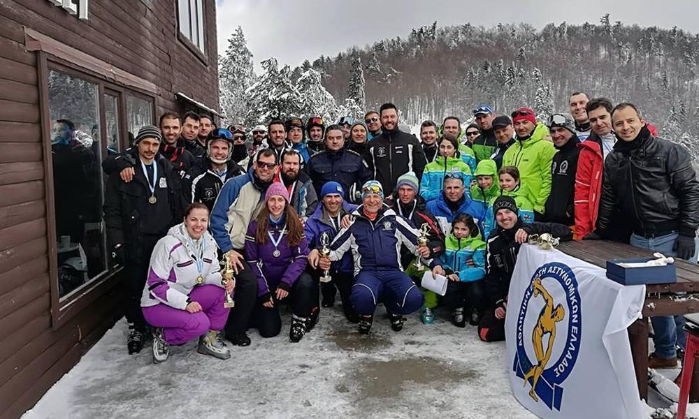 Επιτυχημένο το Πανελλήνιο Πρωτάθλημα Χιονοδρομίας Αστυνομικών στο Ελατοχώρι