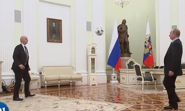 Παγκόσμιο Κύπελλο: Έπος! Πούτιν και Ινφαντίνο κάνουν «γκελάκια» στο Κρεμλίνο! (video)