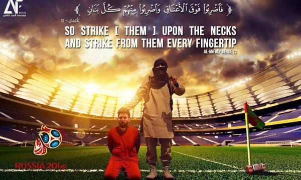 Σοκ στο παγκόσμιο ποδόσφαιρο από αφίσα του ISIS με τον Μέσι αιχμάλωτο! (photos)