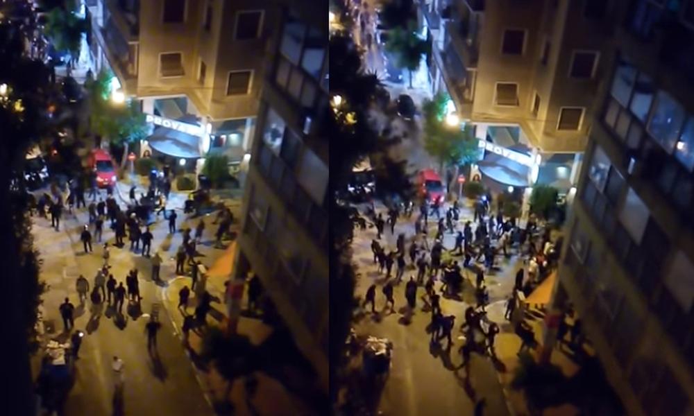 Νέο video από τα άγρια επεισόδια στο κέντρο της Αθήνας