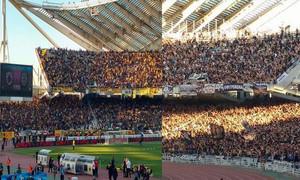 AEK-ΠΑΟΚ: Η «μάχη» της εξέδρας στον τελικό (video)