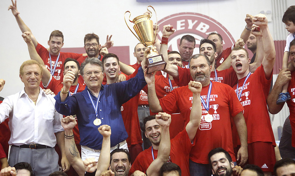 Ιστορικό Πρωτάθλημα Ελλάδος για τον ΟΛΥΜΠΙΑΚΟ-ΟΜΙΛΟ ΞΥΝΗ στο Handball με μεγάλο χορηγό το ΙΕΚ ΑΛΦΑ