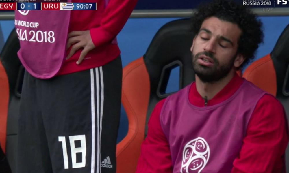 Παγκόσμιο Κύπελλο Ποδοσφαίρου 2018: Η αντίδραση του Σαλάχ στο γκολ της Ουρουγουάης (video)