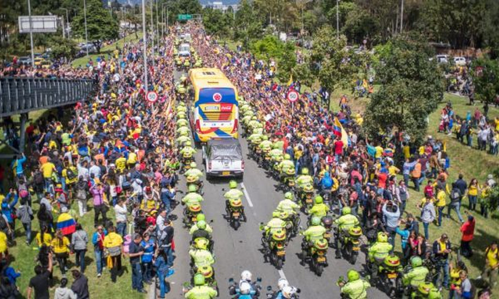Παγκόσμιο Κύπελλο Ποδοσφαίρου 2018: Υποδοχή ηρώων για τους παίκτες της εθνικής Κολομβίας (photos)