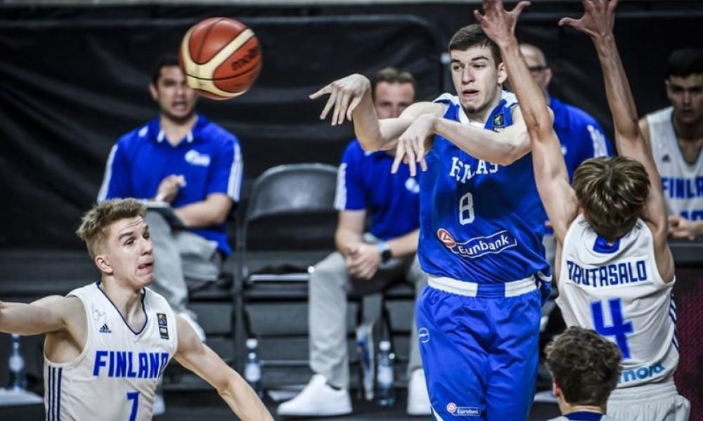 Φινλανδία-Ελλάδα 89-85: «Γαλανόλευκη» ήττα και 14η θέση στο Ευρωπαϊκό Πρωτάθλημα εφήβων