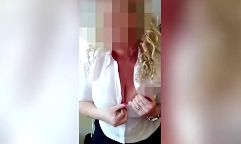 Καυτή αεροσυνοδός τα πέταξε όλα κάνοντας στριπτίζ στην κάμερα! (video)