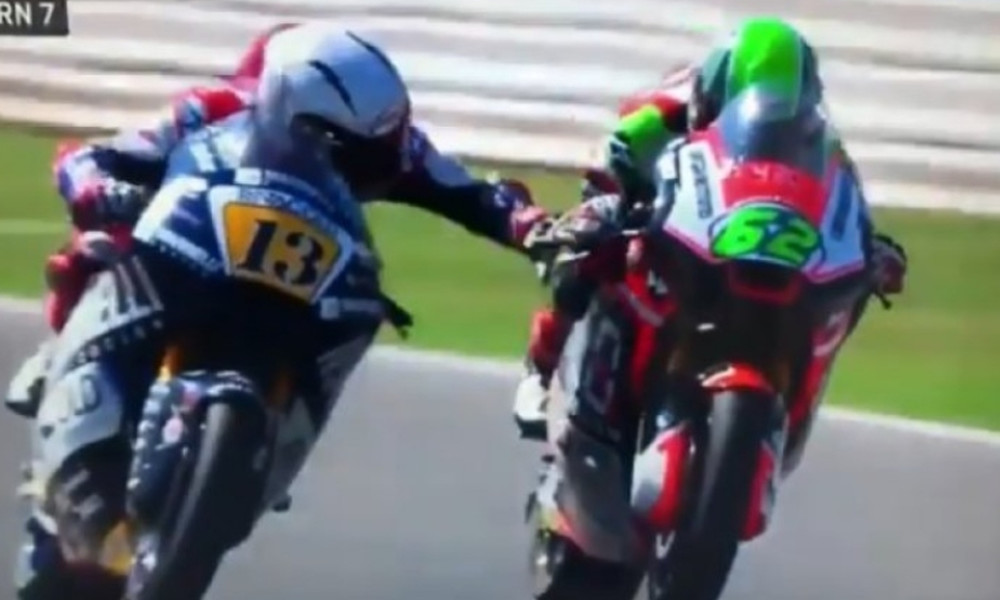 Αδιανόητο! Πάτησε το φρένο αντιπάλου στο Moto2!(video)
