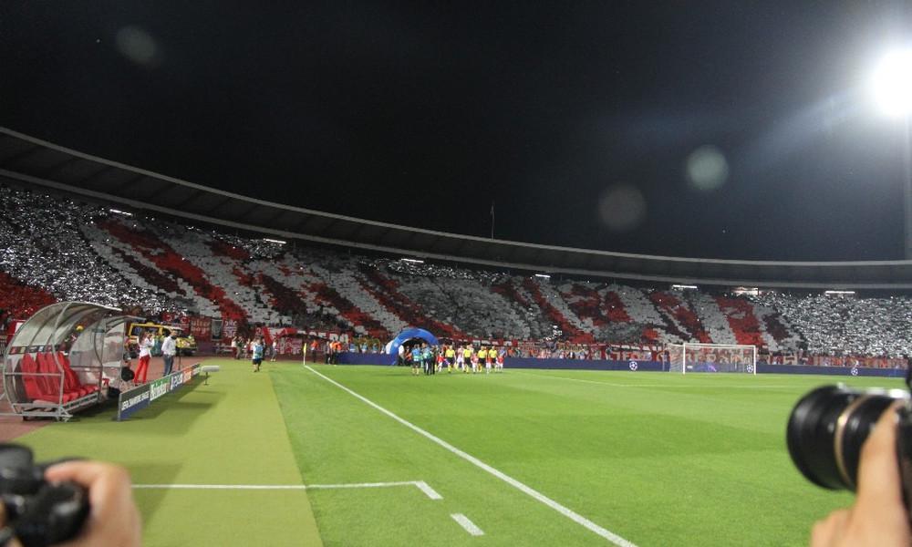 Ερυθρός Αστέρας: Μυθική ατμόσφαιρα! Δεν ακουγόταν ο ύμνος του Champions League (video)