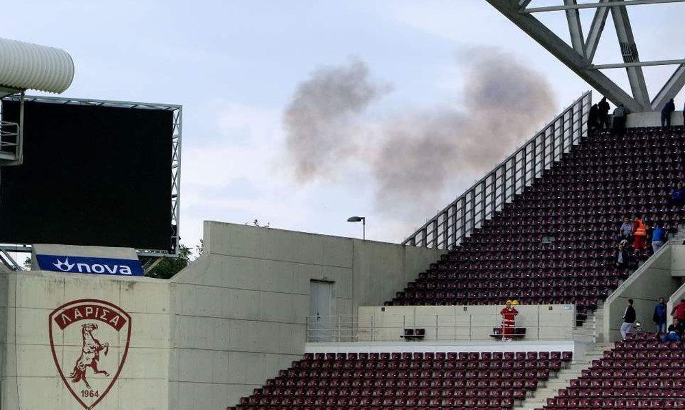 ΑΕΛ-Παναιτωλικός: Ένταση και δακρυγόνα στο AEL FC Arena (photos)