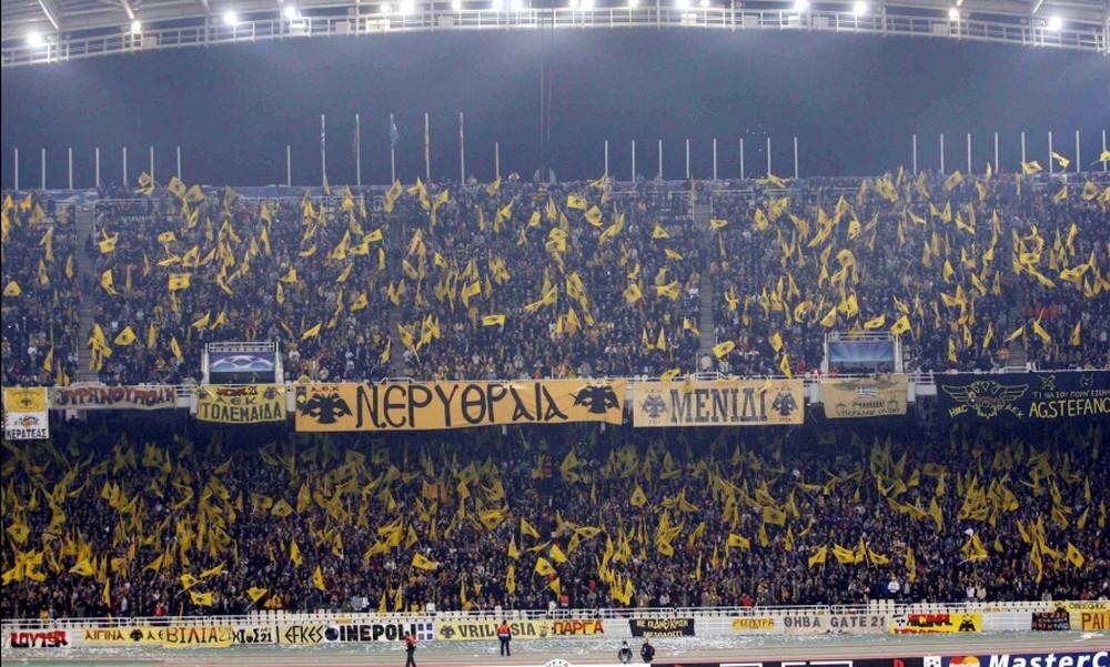 ΑΕΚ: Εκπληκτική ατμόσφαιρα με 40.000 σημαίες με Μπάγερν!