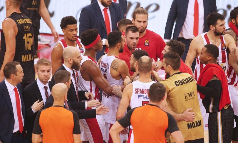Ολυμπιακός – Αρμάνι Μιλάνο: Χαμός και «τσαμπουκάς» με Τζέιμς στο ΣΕΦ! (photos)