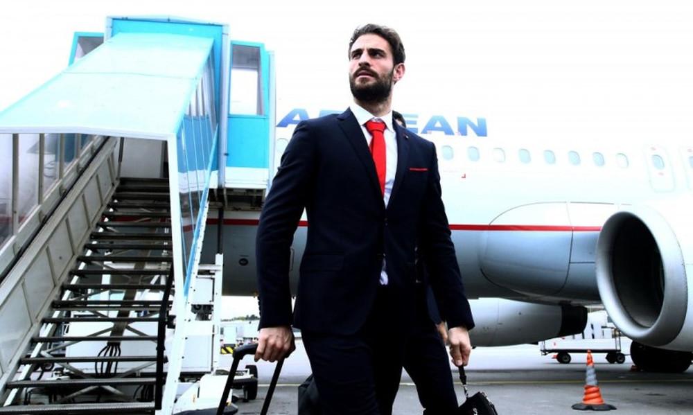 Έφτασε Λουξεμβούργο ο Ολυμπιακός (photos)