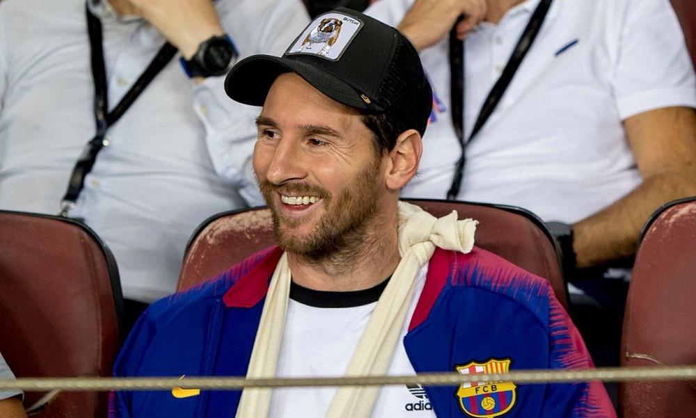 Champions League: Οι στιγμές του Μέσι στην εξέδρα (video)