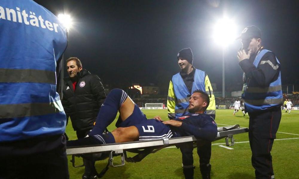 Ντουντελάνζ – Ολυμπιακός: Ο άσχημος τραυματισμός του Γκερέρο (video)
