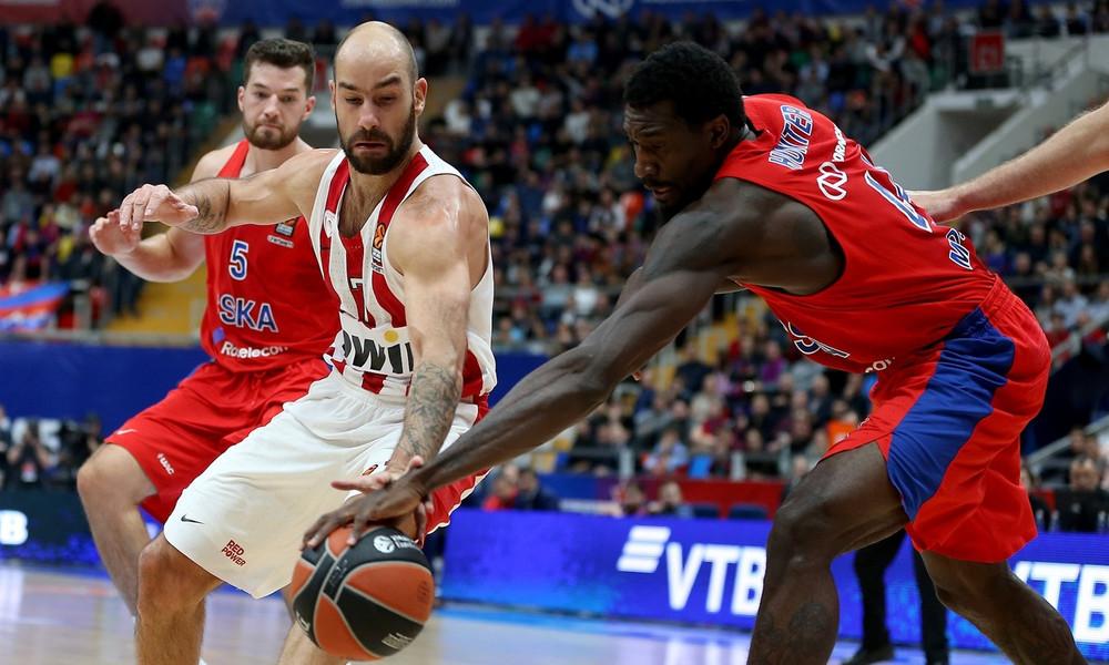 ΤΣΣΚΑ Μ.-Ολυμπιακός 69-65: Έχασε μεγάλη ευκαιρία στη Μόσχα!