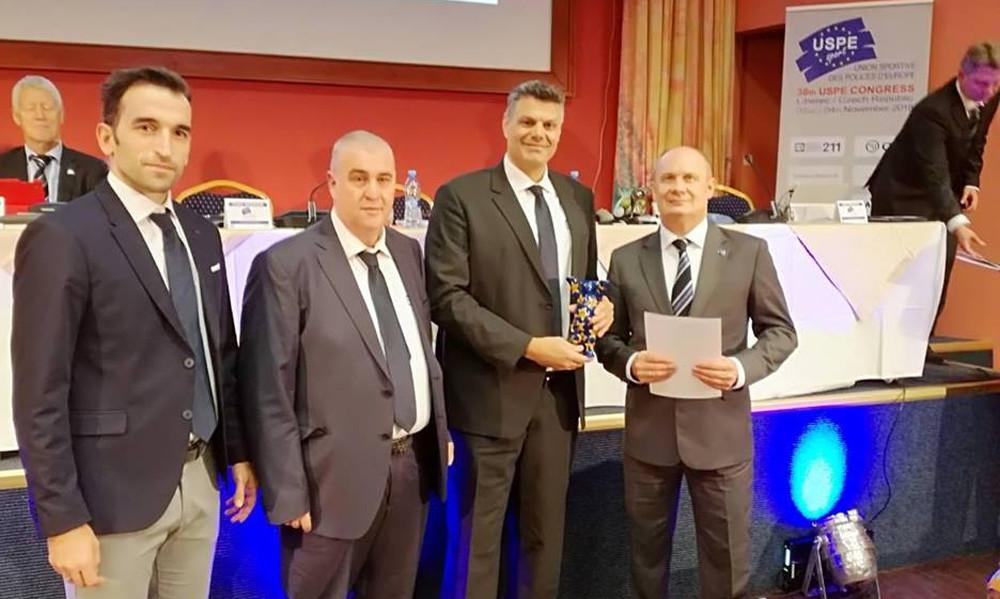 Το βραβείο «Καλύτερης Ομάδας» στην Αθλητική Ένωση Αστυνομικών Ελλάδος