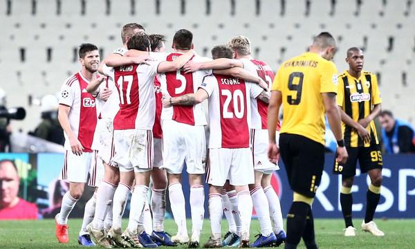 ΑΕΚ – Άγιαξ 0-2: Τα γκολ του αγώνα (video)