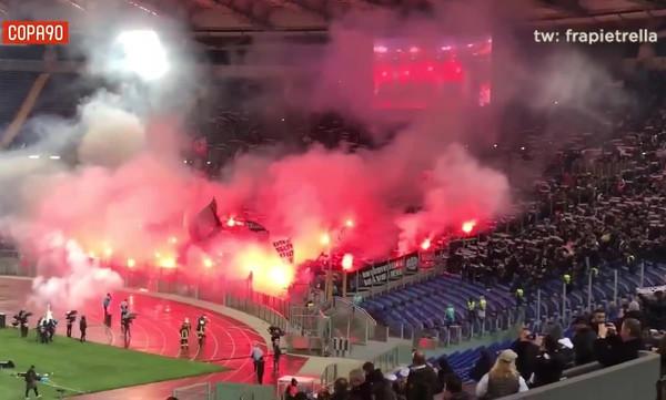 «Φωτιά» στο Ολίμπικο από τους φίλους της Άιντραχτ (video)
