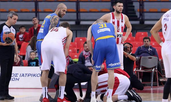 Ολυμπιακός: Δέχθηκε αγκωνιά κι έκανε ράμματα στο κεφάλι ο Στρέλνιεκς! (photos&video)
