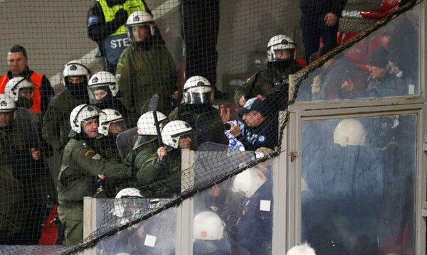 Ολυμπιακός-Ντιναμό Κιέβου: Ένταση με Ουκρανούς οπαδούς στο «Καραϊσκάκης» (photos)