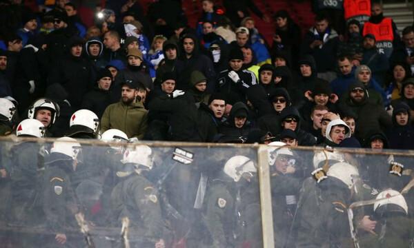 Ολυμπιακός-Ντιναμό Κιέβου: Τα κασκόλ του Παναθηναϊκού που… άναψαν φωτιές (photos)