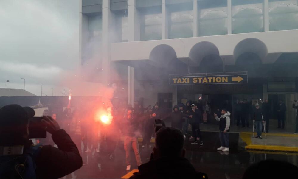 Παναθηναϊκός ΟΠΑΠ: Υποδοχή από οπαδούς στο «Νίκος Καζαντζάκης» (videos)
