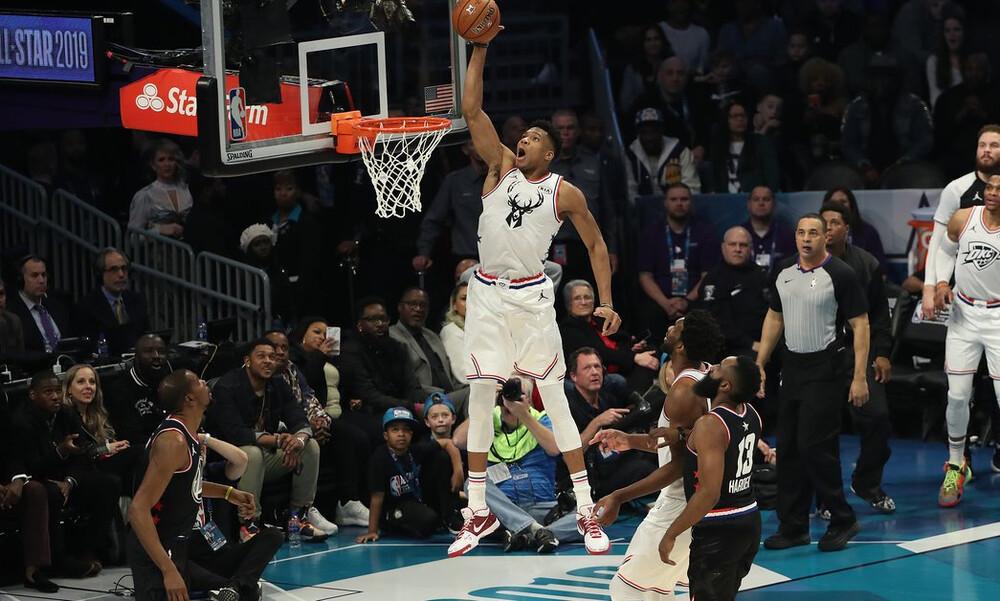 NBA All Star Game: Ο Γιάννης Αντετοκούνμπο έβαλε 38 πόντους αλλά τον νίκησε ο Ντουράντ (photos+vids)