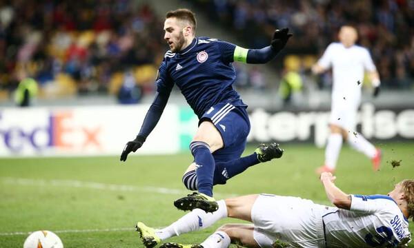 Ντιναμό Κιέβου-Ολυμπιακός: Η αντίδραση του Φορτούνη μετά το γκολ του Σολ (photos)