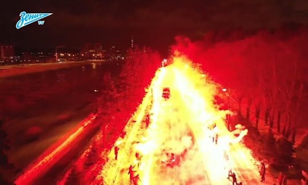 Απίστευτοι οπαδοί: Με... -8 βαθμούς «έκαψαν» την πόλη για να περάσει το πούλμαν! (video+photos)